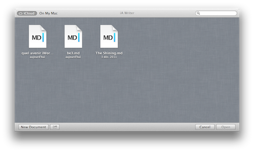 iCloud OS X 10.8